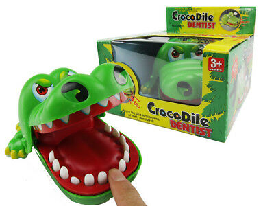 Funny Big Crocodile Mouth Dentist Bite Finger Toy Family Game For Kids Xmas AU