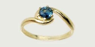Blue Sapphire Gold Ring ½ct Antique 19thC Medieval Ecclesiastic Heaven Pope 14kt