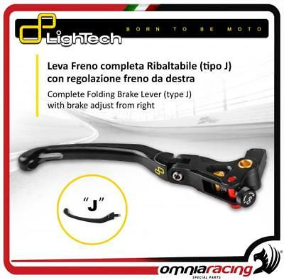 Lightech Leva Freno Completa Ribaltabile (J) reg freno Dx KAWASAKI Z1000 07>15