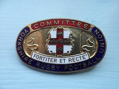 Yorkshire Rugby Football Union Committee Enamel Badge (ca)