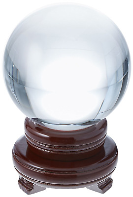 Clear Quartz Crystal Ball 150MM  in dia 18 Inches Circumference with wood stand