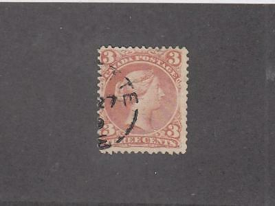 CANADA # 25ii PART TOWN CANCEL 3cts LARGE QUEEN CAT VALUE $25