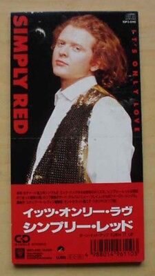 """Simply Red It's Only Love (3"""") Cd Single 3"""" Snap-Pack With Turn It Up (Sticker M"""
