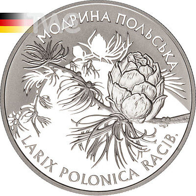Ukraine 2001 10 Hryvnia's Polish Larch - Larix Polonica Racib Proof Silver Coin