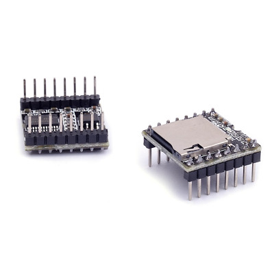 Cylewet 2Pcs DFPlayer Mini MP3 Player Module Support TF Card U Disk for Arduino