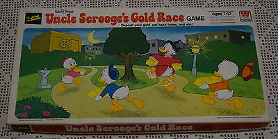 Uncle Scrooge's Gold Race WALT DISNEY Board Game 1976 Boardgame