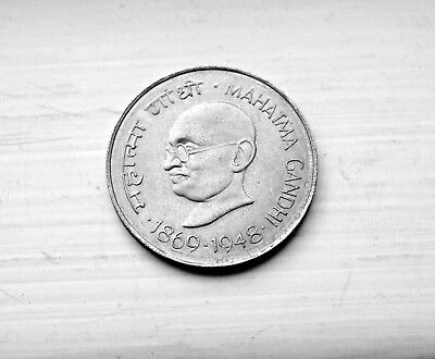 1948 Gondhi 1 Rupee India Nickel Collectible World Coins Km#610