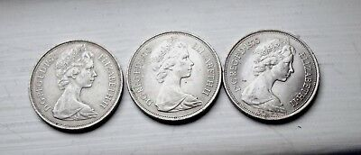 1968 10 New Pence Great Britain World Coins Collectible Money Km# 912 Lot Of 3