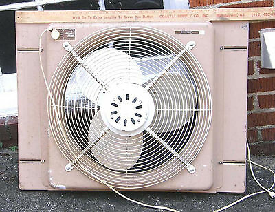 "VINTAGE CITATION 2 SPEED ELECTIRALLY REVERSIBLE 20"" WINDOW FAN 26x28 EXPANDS"
