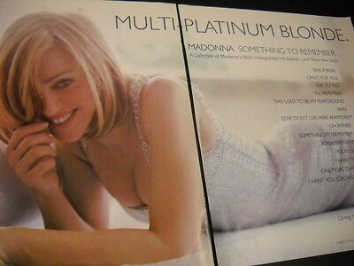 MADONNA Multi Platinum Blonde 1995 Two Piece rarely seen PROMO POSTER AD