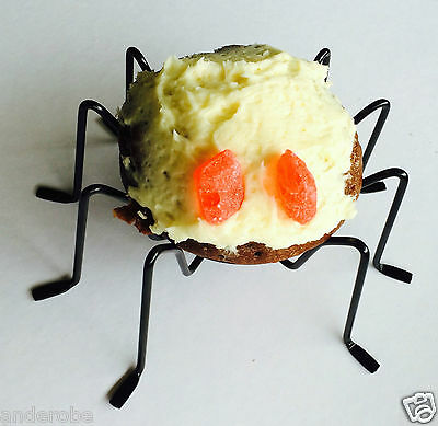 HALLOWEEN! Set of 4 SPIDER CUPCAKE HOLDERS Bugs/Tarantula UNIQUE/One-of-a-Kind**