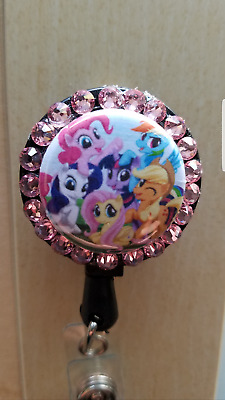 My Little Pony Friends Swarovski Crystal Retractable ID Name Badge