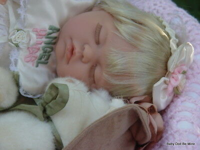 "New ~*~ OOAK  ~ Berenguer ~ Sleeping Angel Kisses ~ 21"" Doll"