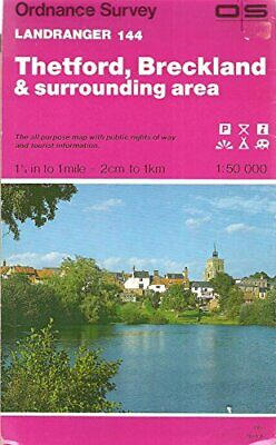 Landranger Maps: Thetford, Breckland and... by Ordnance Survey Sheet map, folded