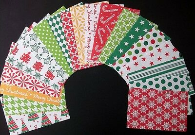 *HAPPY CHRISTMAS* 20 Christmas Papers - Scrapbooking/Cards *15cm x 10cm (6 x 4)