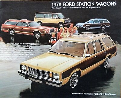 1978 Ford Station Wagon Sales Brochure
