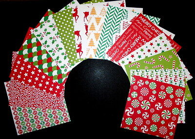 "*CHRISTMAS JOY* Christmas Scrapbooking/Cardmaking Papers *15cm x 15cm (6 ""X 6"")"