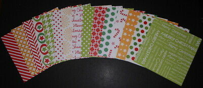 "Christmas Scrapbooking/Cardmaking Papers *CHRISTMAS JOY* 15cm x 15cm (6 ""X 6"")"