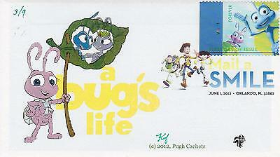 Pugh Cachets First Day Cover Fdc W/insert 2011 A Bug's Life Movie Disney Cartoon