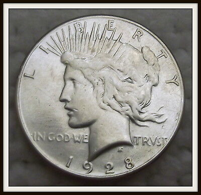 1928 $1 Peace Silver Dollar The Key Date!