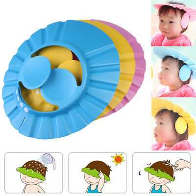 New Soft Safety Baby Kids Children Bath Bathing Shower Cap Hat Wash Hair Shield