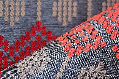 Sina Pearson Folklore Lava --Sell By The Yard- Modern Upholstery Fabric