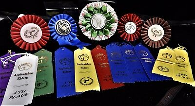 Lot of 16 Horse Show Award Ribbons