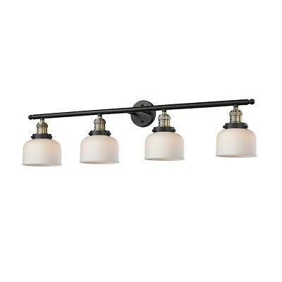Innovations 4 Light Large Bell Bathroom Fixture in Black/Brushed Brass - 215-BB