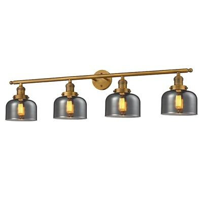 Innovations 4 Light Large Bell Bathroom Fixture in Brushed Brass - 215-BB-G73
