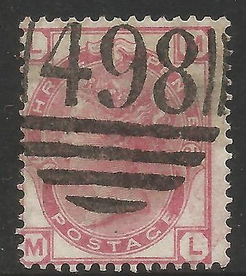 GREAT BRITAIN 1881 3d ROSE , WMK 49(Imp' Crown), Plate 21, S.G 158,USED (o)