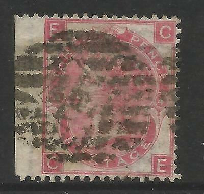 GREAT BRITAIN 1865  3d ROSE, WMK 20(Emblems), Plate 4, ERROR,  S.G 90, USED (o)