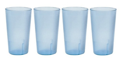 32 oz.(Ounce) Restaurant Beverage Cup Stackable Commerical Plastic Set of 4 -Blu