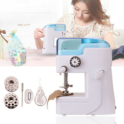 Portable Mini Sewing Machine Electric Desktop Handheld Clothe Household Travel