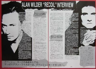 Alan Wilder RECOIL DEPECHE MODE 1992 CLIPPINGS JAPAN MAGAZINE N4 A11 2PAGE
