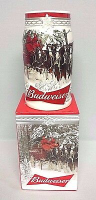 Budweiser 2017 Holiday Retreat Christmas stein - NEW  FREE SHIPPING