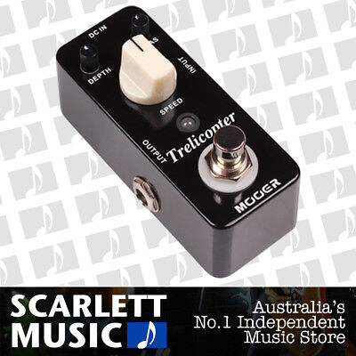 Mooer Micro Series Trelicopter Effects Pedal - w/12 Months Warranty.