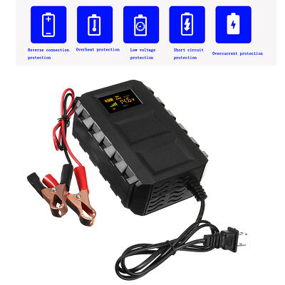 12V 10A Intelligent Smart Car Automobile Motorcycle Lead Acid Battery Charger