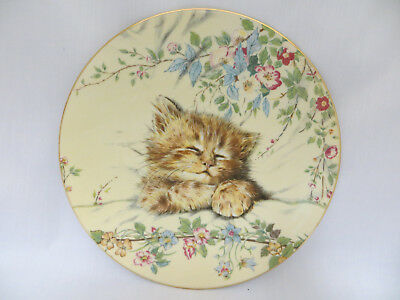 Cat Nap Kitten Classics Collector Plate Tabby Royal Worcester Crown Ware 1985