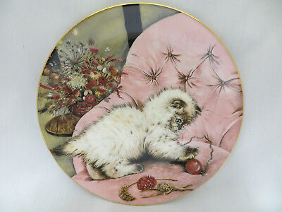 Little Rascal Siamese Kitten Classics Collector Plate Royal Worcester Crown Ware