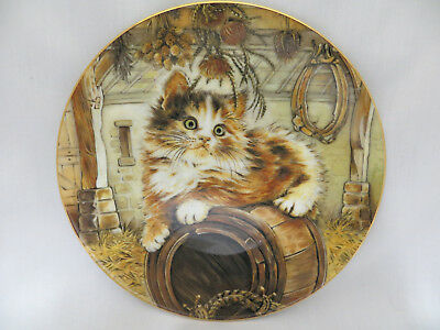 Country Kitten Classics Maine Coon Collector Plate Royal Worcester Crown Ware