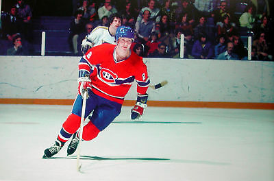 Hockey Print Photo Steve Shutt Montreal Canadien  Color Pic In Action   Ss1