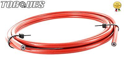 "AN -3 ( 1/8"" I.D) Stainless Braided Red PVC Coated Teflon Brake Hose 1m"
