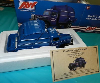 New Allied Republic Waste Mack Rear Load Garbage Truck Rare By First Gear