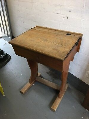 Vintage Wooden School Desk 2 Available (sold Separately Or Together)