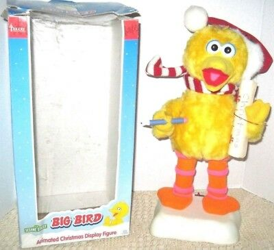 Sesame Street Big Bird Christmas Animated Display Figure 1998