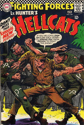 OUR FIGHTING FORCES #106 VG/F, Lt. Hunter's HELLCATS, War, DC Comics 1967