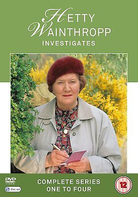 HETTY WAINTHROPP INVESTIGATES Stagioni 1-4 Complete BOX 8 DVD in Inglese NEW .cp