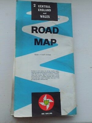 BP Central England & Wales Road Map 1961