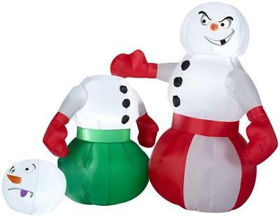 Gemmy 4' Airblown Snowmen Boxing Christmas Inflatable
