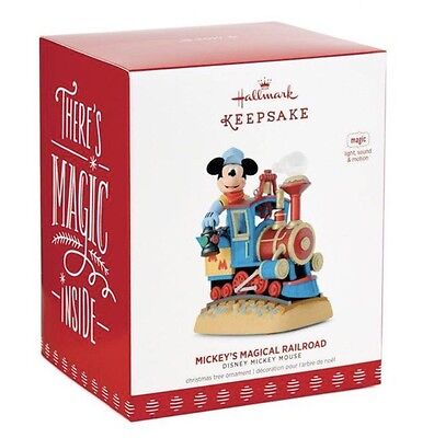 "Hallmark Keepsake Ornament ""Mickey's Magical Railroad"" Brand New In Box"